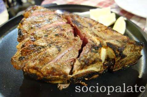bistecca fiorentina at da bule restaurnt in chianti