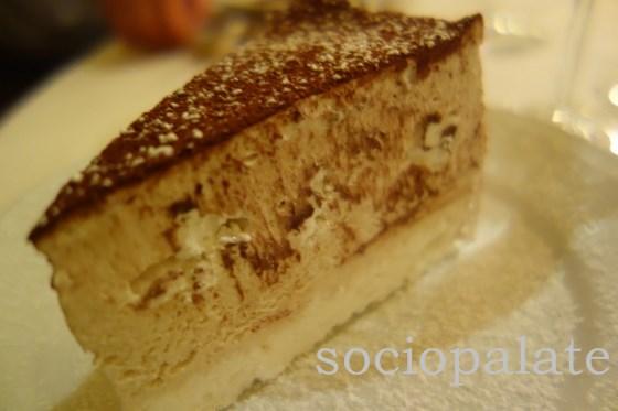 Chestnut meringue torte, excellent fall dessert at Cibreo restaurant in Florence