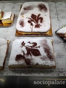 Schiacciata fiorentina typical cake eaten during carnevale
