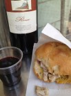 panino con lampredotto and wine for cheap lunch in florence