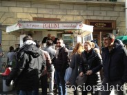 Pollini street stand for famous street food in Florence