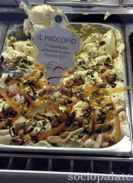 Award winning ice cream at Il Procopio gelateria in Florence
