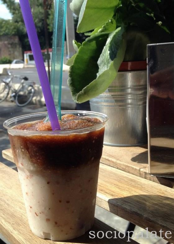 The classic granita combo: Coffee and Almond from Il Re Gelato