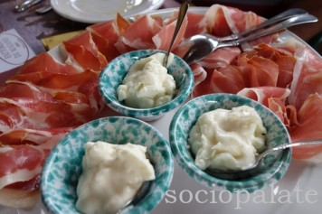 prosciutto and cheese Tuscan antipasti from Florence food tour