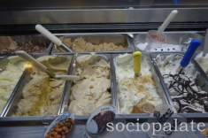 Gelato at Bella Blu gelateria and aperativo bar in Maiano near Florence