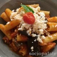pasta alla norma classic Sicilian pasta at Ara Sud restaurant in Florence