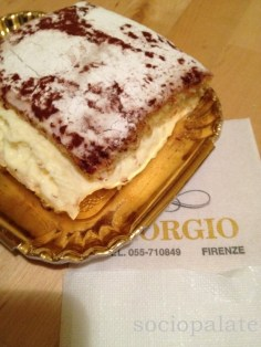 Best schiacciata fiorentina in florence at Giorgios filled with chantlly