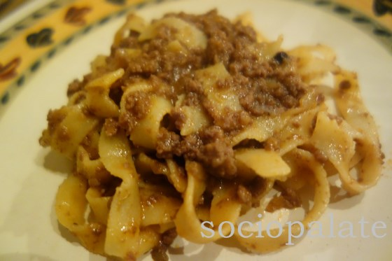 Pappardelle al Cinghiale typical Tuscan food